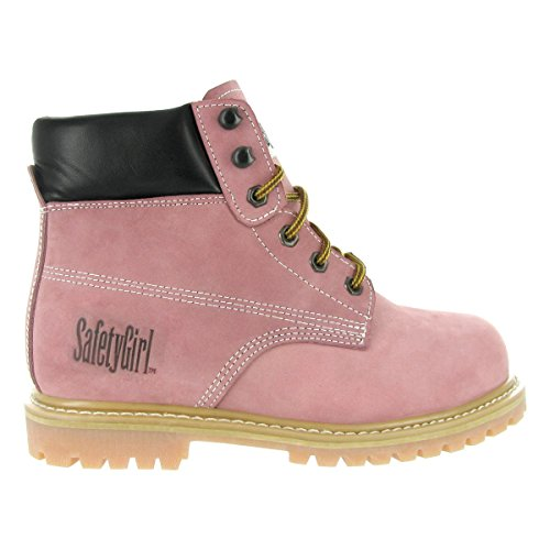 Safety Pink Toe Safety Boots Light Girl Steel Girl Work 75xZ4aT