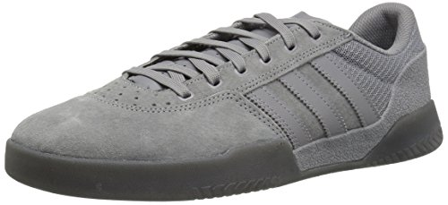adidas Men's City Cup Skate Shoe, Three, Grey Five Fabric, Gold met, 12 M US