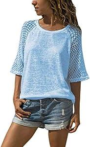 Naivikid Women's Basic V Neck Short Sleeve T Shirts Summer Casual Tops S