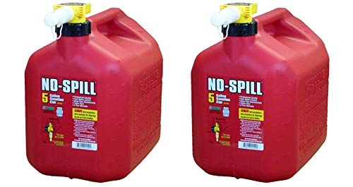 No-Spill 1450 5-Gallon Poly Gas Can (CARB Compliant) (Pack of 2)