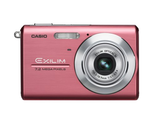 Exilim Z75 7.2 Megapixel Compact Camera - Pink - 2.6 LCD - 1
