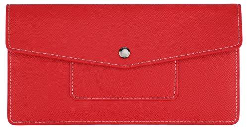 Lavemi RFID Blocking Ultra Slim Real Leather Credit Card Holder Clutch Wallets for Women(2-Envelope -