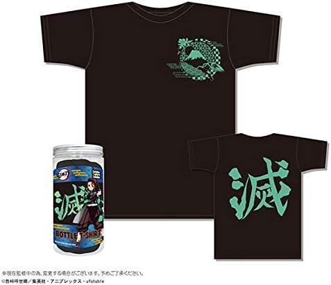 鬼滅の刃 きめつのやいば ボトルTシャツ C柄/黒 XS 子供服 キッズ アパレル 服