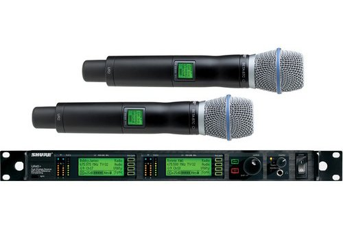 Shure UR24D/Beta87C Dual Handheld Wireless System, H4 ()