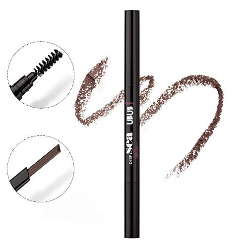 HeyBeauty Eyebrow Pencil with Brow Brush, Waterproof Automatic Makeup Cosmetic Tool, Red Brown-4# ()