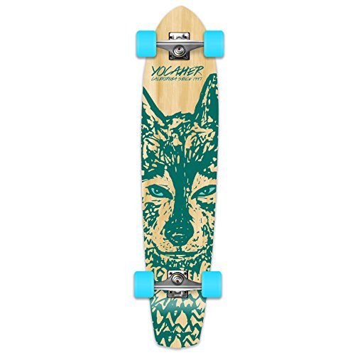 Yocaher Spirit Wolf Longboard Complete Skateboard Cruiser - Available in All Shapes ()