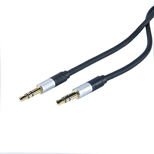 DTECH 6 Feet 3.5mm Male to Male Stereo Audio Cable 6 ft Compatible for Smartphones, Tablets, Car Stereo, Headphone, Computer, PC, Speaker, MP3 ()