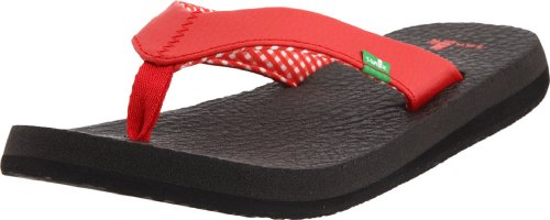 Sanuk Women's Yoga Mat Flip Flop,Red,10 M US