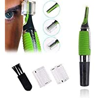 Wazdorf Cordless Touches Nose Trimmer All In One Personal Trimmer,Hair Trimmer Cordless Great For Travel, Nose Hair Trimmer With Built In Led Light nose trimmer for mens (green trimmer)
