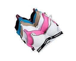 Coobie Intimates Women\'s 6 Pack Sports Bras 36C Multi