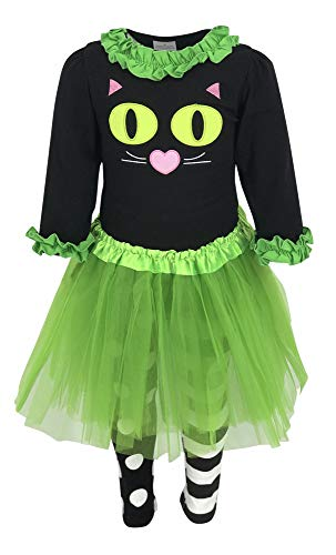 Unique Baby Girls Halloween Cat Costume with