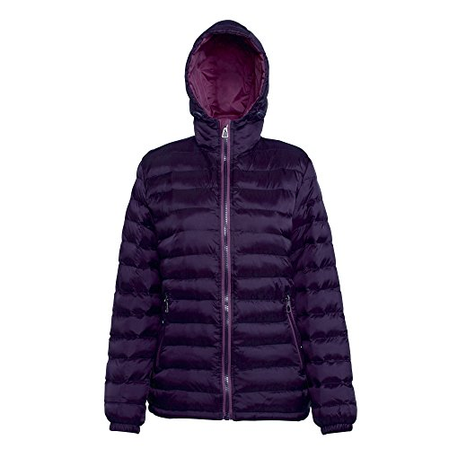 Al All'acqua Jacket Gelso Vento Womens Ladies 2786 Aubergine E Resistente Hooded Imbottito BxO8YSFnw
