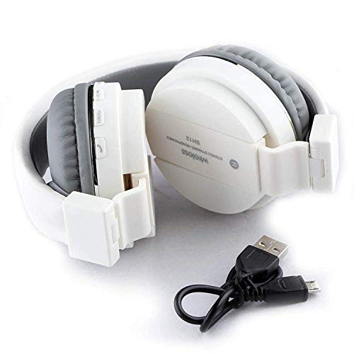 GENERIC Wireless/Bluetooth Headphone SH-12 Crystal Clear Sound Deep Bass Support FM and SD Card Slot with Music and Calling Controls Adjustable Pads for Small and Big Head