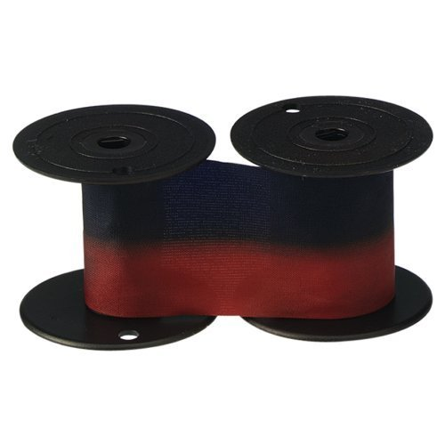 - 3 X Lathem Time 2-Color Replacement Ribbon for 1221 & 4001 Time Recorders, Blue/Red Ink (7-2CN)