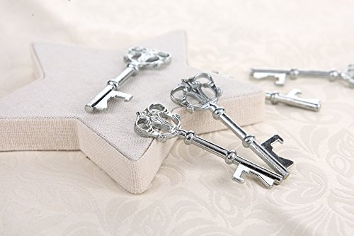 40x Bottle Openers Copper Wedding Favors Antique Rustic Decoration 3 inch - Silver