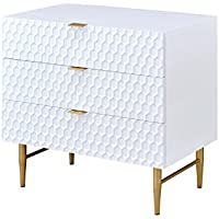 ACME Furniture 97470 Maisey White and Gold Dresser, 1 Size
