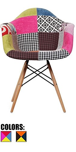 Finch Fox ABS Plastic with Wood and Black Accents Iconic American Mid-Century Styling Dining Armless Side Chairs