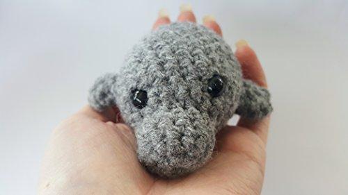 Crochet MINI manatee stuffed animal plush toy