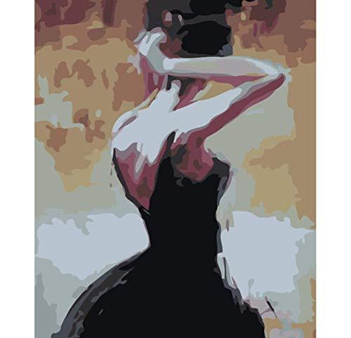 Vista Posterior Corbata Figura De Bricolaje Pintura Digital Por ...