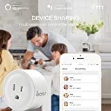 WiFi Smart Plug, Wireless Wifi Outlet Electrical Socket Work with Alexa/Google Assistant by Avatar Controls, Remote Control Timing Function On/Off Switch for Household Electrical Appliances (2-Pack)