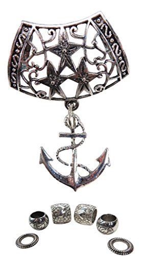 nautical anchor pendant slide tube scarf rings craft scarf (Nautical Pendant Slide)