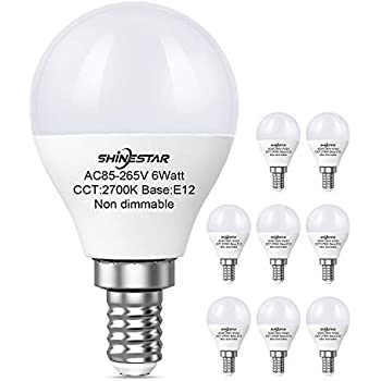 8 Pack 60 Watt Equivalent E12 Led Bulbs Warm White A15
