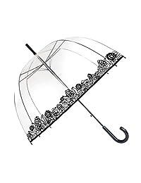 SMATI Stick Birdcage Clear Umbrella dome transparent - Automatic open