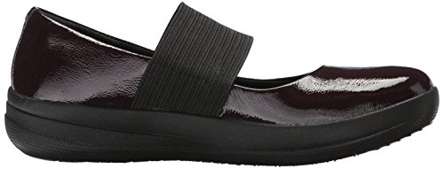 FitFlop Damen F-Sporty Elastische Mary Jane Flat Fig. Patent