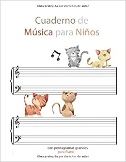 Amazon.com: Cuaderno de música para niños con pentagramas ...