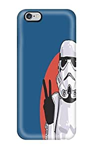 DanRobertse Iphone 6 Plus Hybrid Tpu Case Cover Silicon Bumper Star Wars Stormtroopers Peace V Sign
