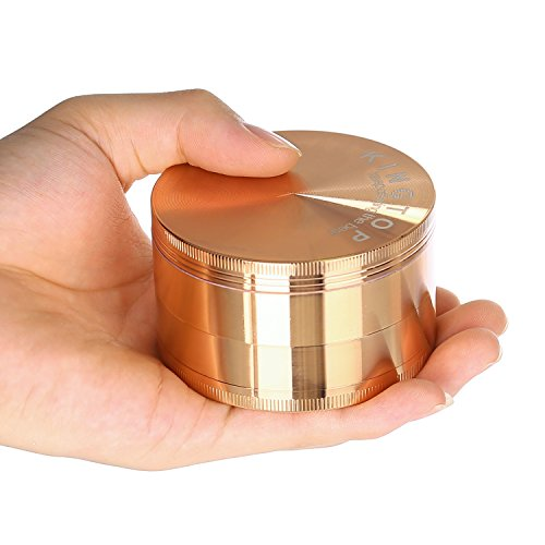 Kingtop Herb Spice Grinder Large 3.0 Inch Rose Gold by KingTop (Image #4)