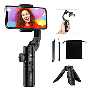 Bomaker Gimbal Stabilizer for Smartphone, 3-Axis Phone Gimbal Handheld Stabilizer Foldable with OLED Screen and Tripod…