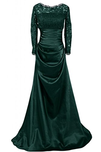 raso Green donna maniche tacco per donna Dark basso da abiti da abiti da con in a lunghe Sunvary fodera eleganti sposa URwBPP