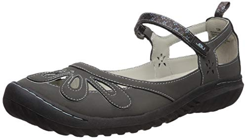 JBU by Jambu Women's Wildflower Encore Mary Jane Flat, Charcoal, 7.5 M US