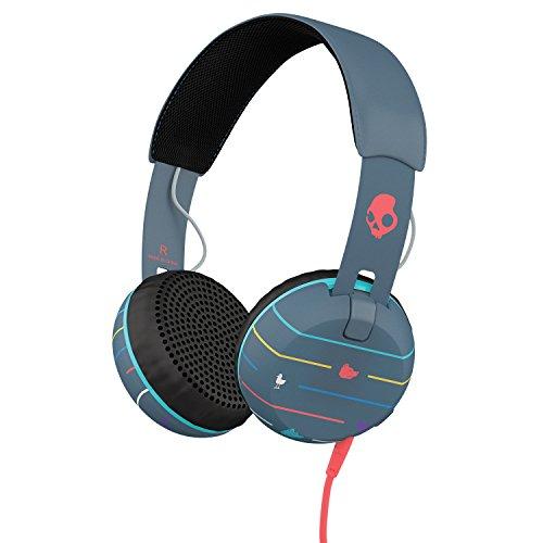 Skullcandy Grind Headphones Stripes/Navy/Blue, One Size by Skullcandy
