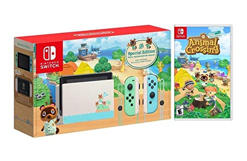 Switch Animal Crossing: New Horizons Edition Bundle with Animal Crossing Game