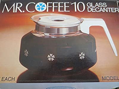 Mr. Coffee 10 Cup Glass Decanter Carafe Model D-7 -- Fits Black & Decker Spacemaker SDC2A, SDC2D, SDC3A, Bunn Pour-Omatic GR, General Electric GE Spacemaker SDC2, SDC3, Norelco C164, C564, CT162, CT663, Dial-A-Brew HB5183, 5184, 5185, 5186, 5186-C, 5187,