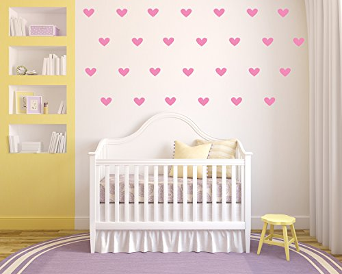 (Heart Confetti 25 Count - Vinyl Removable Wall Decals - 3.5