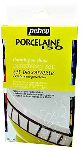 Red Agate Gold (Pebeo Porcelaine 150 Discovery Set of 12 Assorted 20ml China Paint Colors)