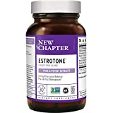 New Chapter Menopause Supplement - Estrotone with Evening Primrose Oil + Black Cohosh for Hormone Health - 30 ct Vegetarian Capsule