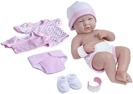 La Newborn Nursery 8 Piece Layette Baby Doll Gift Set, featuring 14
