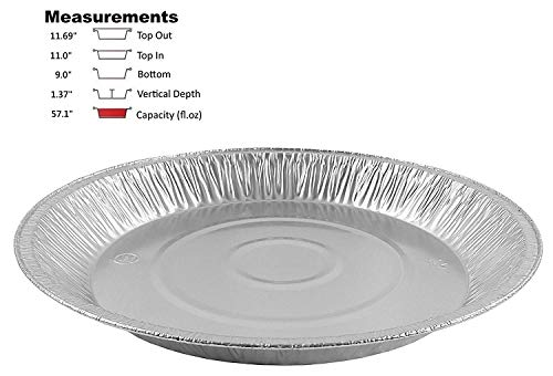 Pactogo 12 Aluminum Foil Pie Pan Extra-Deep Disposable Tin Plates (Pack of 12)