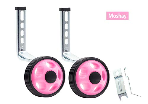 MOSHAY Noctilucent Training Wheels 14 16 18 20Inch (Pink)