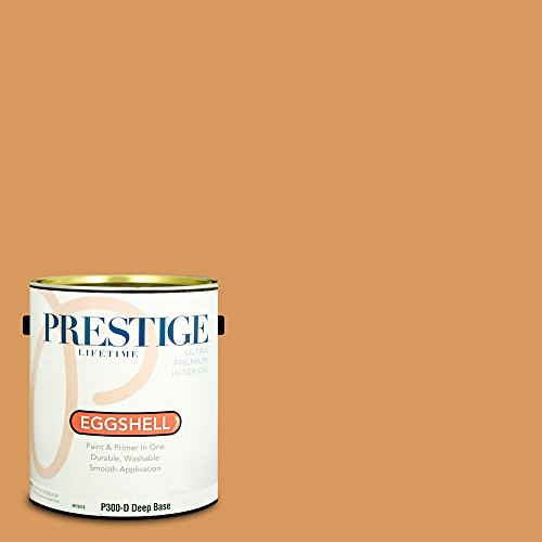 Prestige Paints P300-D-SW6368 Interior Paint and Primer in One, 1-Gallon, Eggshell, Comparable Match of Sherwin Williams Bakelite Gold, 1 Gallon,