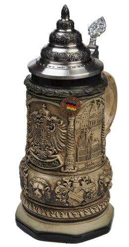 Beer Stein by King Deutschland (Germany) Famous Landmarks CoA Beer Mug Rustic 0.4l Limited Edition