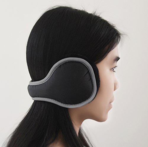 Waterproof Ear Warmer with Reflective Strip - Back Worn Stylish Cozy Earmuff