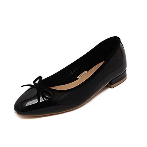 fereshte Ladies Women's Comfy Slip On Work School Dolly Pumps Ballet Flats Shoes 616Black