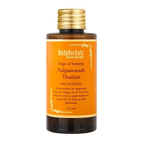 BodyHerbals Nalpamaradi Face & Body Oil, 100% Natural For De-Tanning, Ancient Ayurveda, Made in India, Beauty Skincare (115 ml)