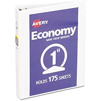 avery mini economy view binder with 1 inch round ring 55 x 85 inches