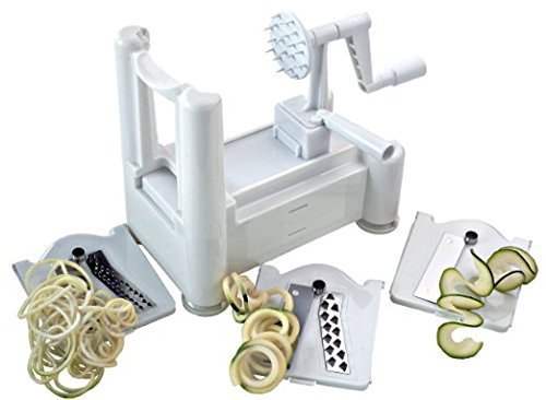 Paderno World Cuisine A4982799 Tri-Blade Plastic Spiral Vegetable Slicer (Pack of 3) ()